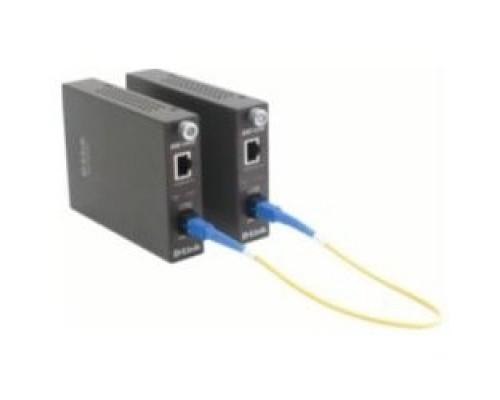 D-Link DMC-1910T/A9A WDM медиаконвертер с 1 портом 1000Base-T и 1 портом 1000Base-LX с разъемом SC (ТХ: 1550 нм; RX: 1310 нм) для одномодового оптического кабеля (до 15 км)