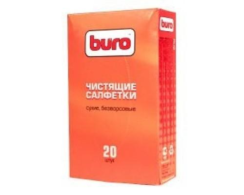 Чистящие средства BURO BU-Udry 817443 Сухие чистящие салфетки, безворсовые, 20шт.