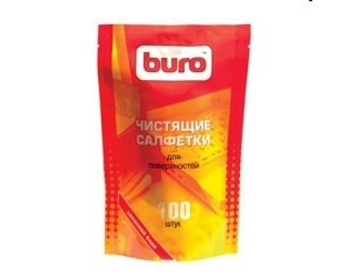 Чистящие средства BURO BU-ZSURFACE 817447 Запасной блок тубе чистящими салфетками для поверхностей, 100шт.